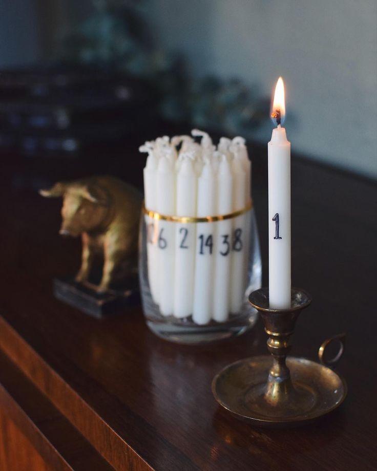 Första julpysslet klart ❤️ Struntar i det där enda långa kalenderljuset man ändå glömmer tända - gör 24 st små kalenderljus av julgransljus. Nytt ljus varje dag som då får brinna hur kort eller långt jag vill. Mer på bloggen så klart, länk i profilen @helenalyth.se 🌟🤶🎄 #julmedhelena #julpyssel #kalenderljus #december #julen2017 #pyssel #adlibrisdiy #julgransljus #101ideer #christmascountdown #christmas2017