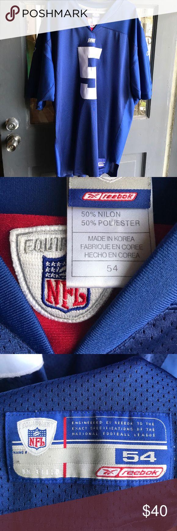 NFL Reebok Equipment Giants #5 Collins Jersey NFL Reebok Equipment #5 Collins Jersey / Giants / 2xl tall Nfl Reebok Equipment Shirts
