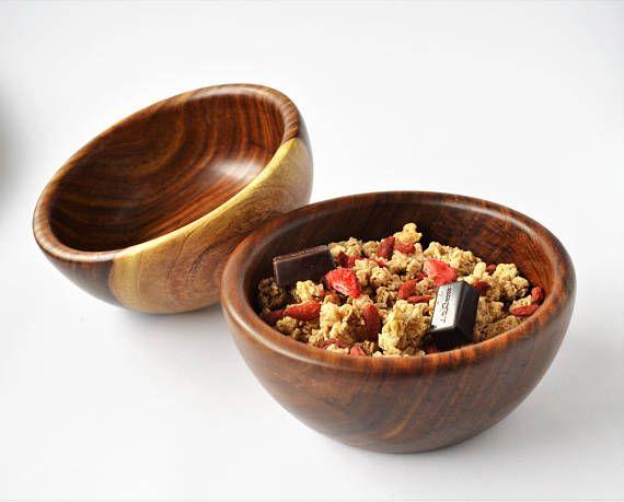 Wooden Salad bowl Rosewood handmade soup bowl gourmet