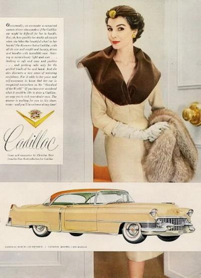 Cadillac ad, 1954