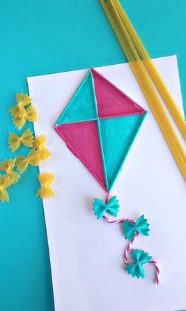 Παιδική κατασκευή- Φτιάξτε χαρταετό από μακαρόνια. Φτιάξτε με τα παιδιά σας τον πιο εύκολο, γρήγορο και εντυπωσιακό χαρταετό από μακαρόνια και περάστε