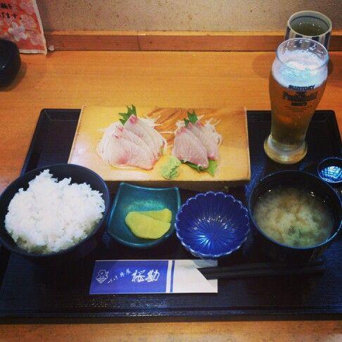 KAGOSHIMA FOODs 漬け丼屋 桜勘→かんぱち刺身定食♪