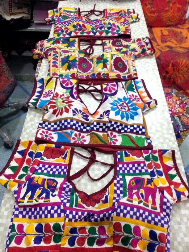 Kutchi antique work blouse