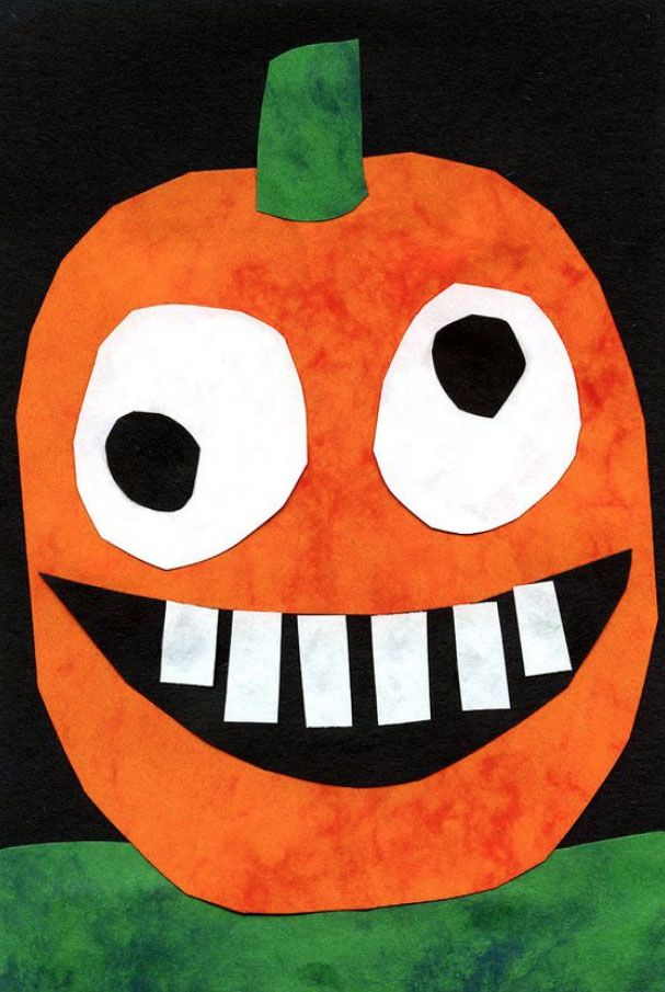 silly pumpkin art project - Halloween Arts And Crafts For Kids Pinterest