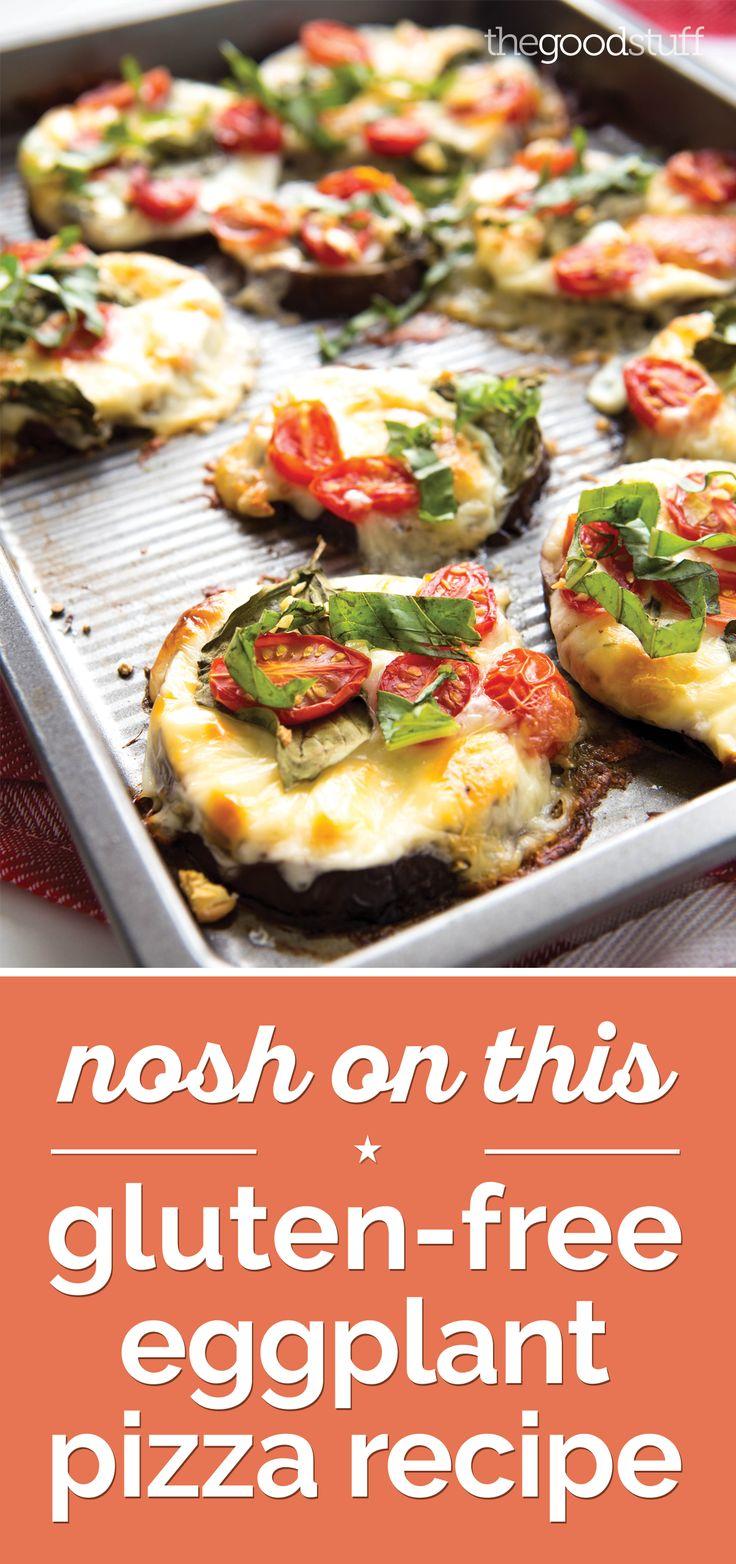 Nosh On This Gluten-Free Eggplant Pizza Recipe [Video] - thegoodstuff