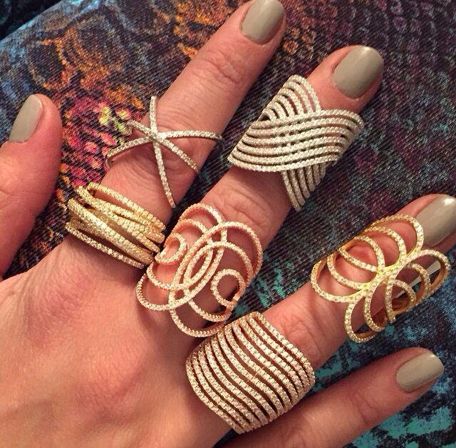 Modelos de anillos con brillanteria