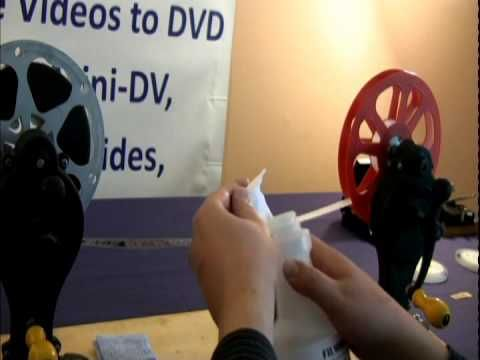 (23) 8mm, 16mm and Super 8 film cleaning - mydvdtransfer.com - YouTube