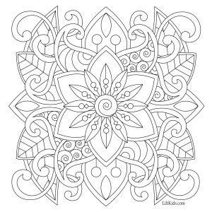 lilt kids free easy mandala adult coloring book image  Davlin Publishing #adultcoloring