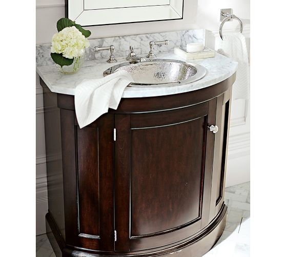 (Bathroom) Brinkley Demilune Single Sink Console   Love The Curved Front On  The Cabinet