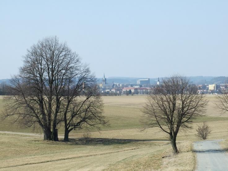 Cross between a fields by city Polička (east Bohemia)