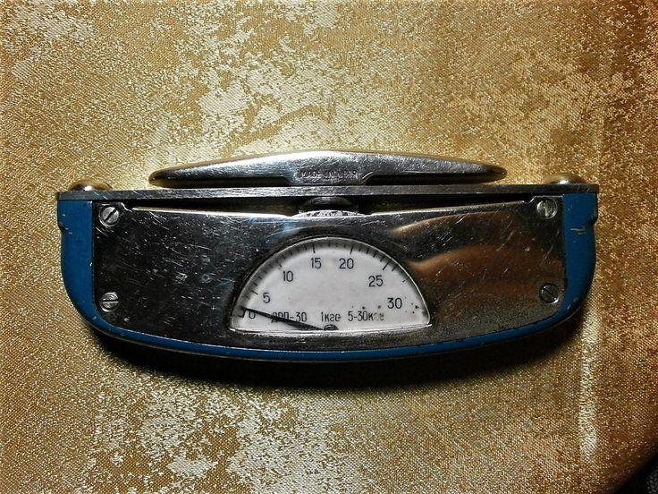 Grip meter, fitness, bodybuilding, made in USSR, enameled stainless steel, soviet memorabilia, hyper vintage by AntiqueBoutiqueZ on Etsy
