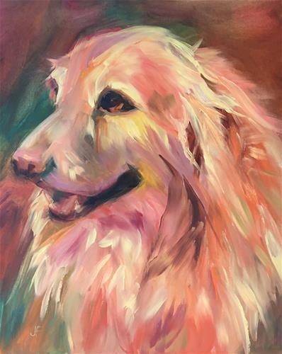 "Daily Paintworks - ""Bentley"" - Original Fine Art for Sale - © Jean Fitzgerald"