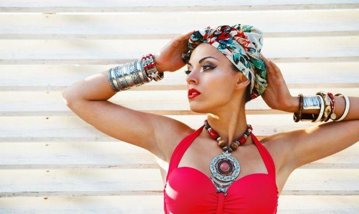 Come fare un turbante? Nodo per modello arabo, indiano e a fascia - http://www.chizzocute.it/turbante-come-fare-realizzare-nodo-modello-arabo-indiano/