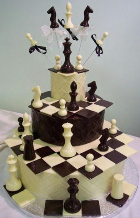 Chess club cake