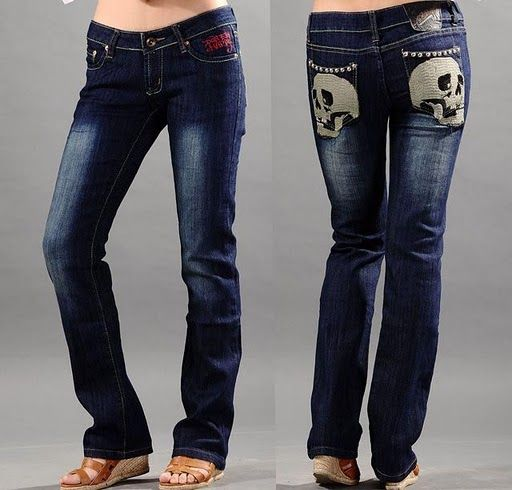 skull clothing | Ed Hardy Womens Skull Jeans 12 - $72.90 : Ed Hardy Style,Clothes ...