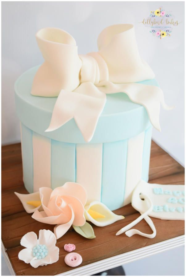 Hat Box cake by Dollybird Bakes