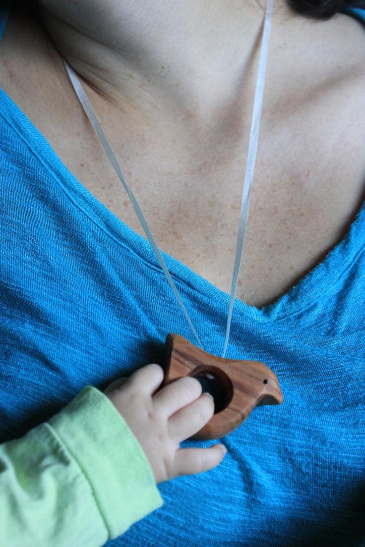 Nursing Necklace, Breastfeeding, Baby Teether, breastmilk. $14.00, via Etsy.