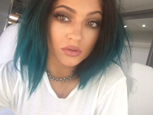 Kylie Jenner - black to blue ombre. Something to try in the future.