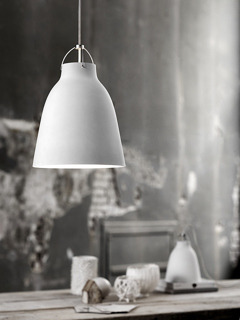 Caravaggio pendant light, the whole scene does it! Scandinavian Style!