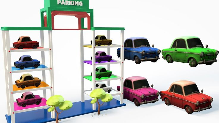 Colors Learn for Children with Street Vehicle Toy Car Parking