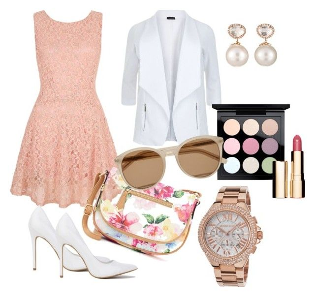 """""""Coming Up Blush"""" by lynetteamaro on Polyvore featuring Yumi, Apt. 9, MAC Cosmetics, Clarins, Yves Saint Laurent, Michael Kors and Samira 13"""