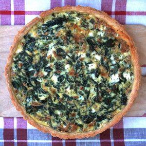 Тарт (киш) с фетой и шпинатом - Cookery Daily