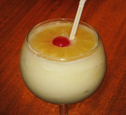 CHi Chi Ingredients   2 oz. Vodka 4 oz. Pineapple Juice 2 oz. Cream of Coconut 1 cup of ice Pineapple Ring and Cherry to garnish