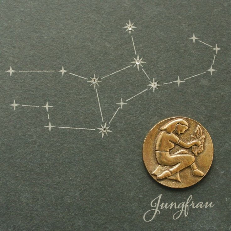 Wandrelief Sternzeichen Jungfrau Schiefer Swarovski 14, 5