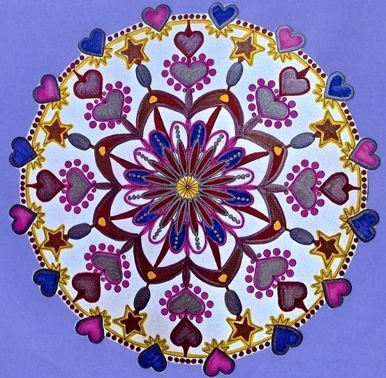 Coloring heart mandala (K)   Coloring pages   Pinterest