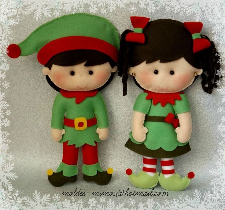 Very cool boy and girl/Mr and Mrs elf elves dolls