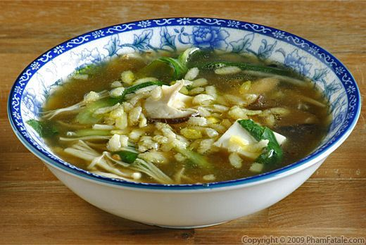 Vegetarian Sizzling Rice Soup