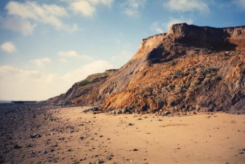 Walton-on-the-Naze cliffs - for fossils, especially shark's teeth.