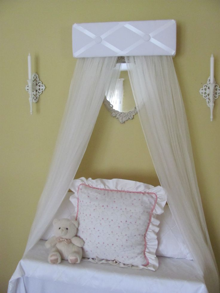 TUFTED BeD CaNoPy WHITE Satin by SoZoeyBoutique, $49.94. With the sheer panels, framing a portrait of us over our bed in the master bedroom. Hoping to cusotmize it so that the ribbons are black =)