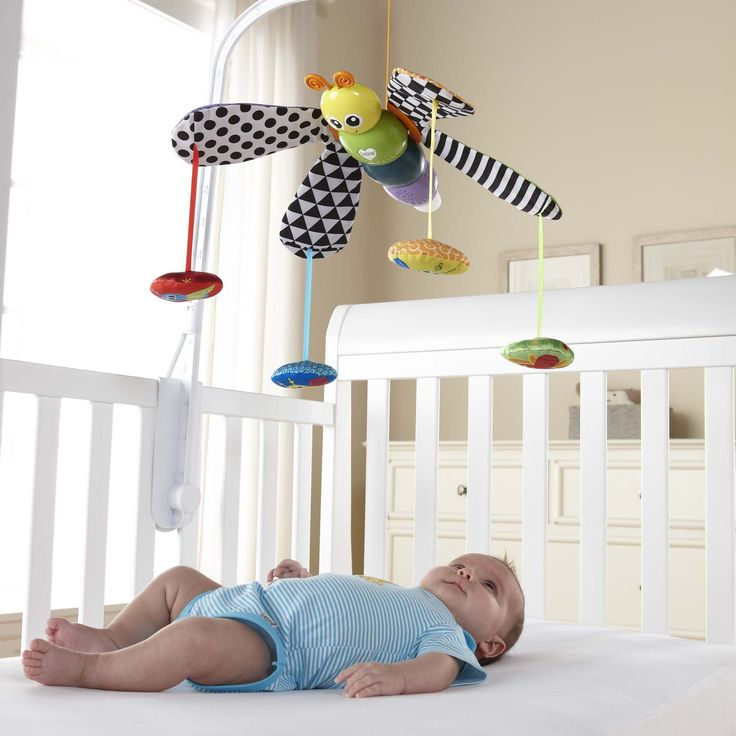 Freddie the Firefly Mobile for baby's crib is a great infant developmental toy and stimulator for newborns and babies. Musical, moveable with light up tail.