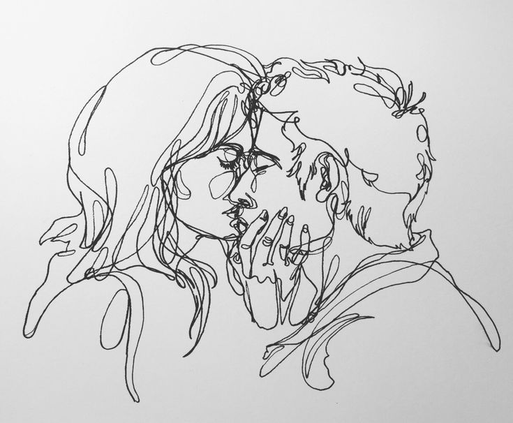 Kiss tumblr drawing