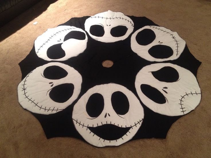 Nightmare before Christmas oversized handmade tree skirt ...