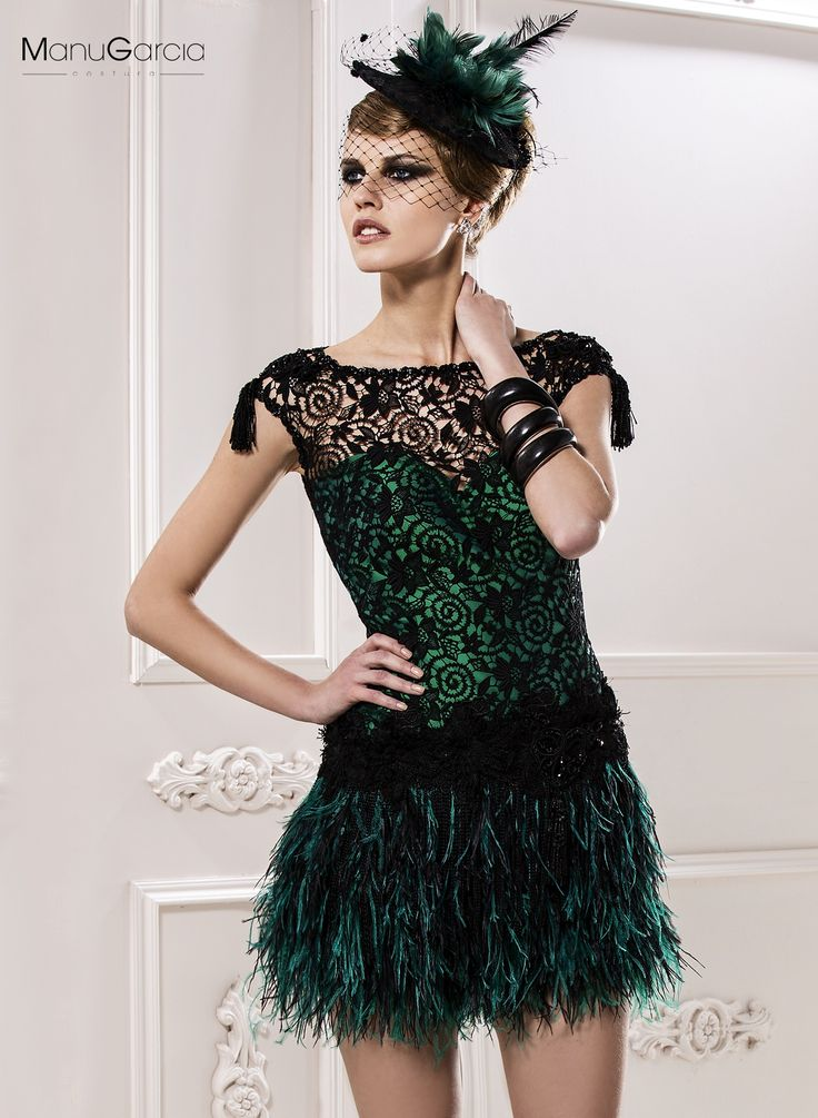 Inspirado en los a os 20 guipur plumas cristal qu te parece bymanugarc a vestidos de - Fiesta anos 20 ...