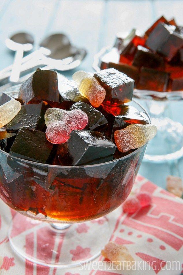 Cherry Coca-Cola Jello Jigglers