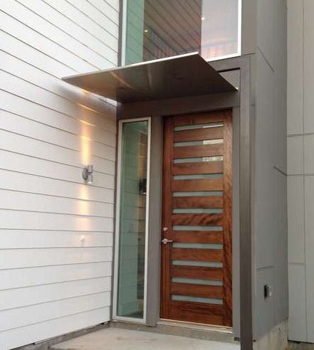 78 Ideas About Front Door Awning On Pinterest Metal