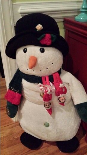 Having fun with Frosty the snowman