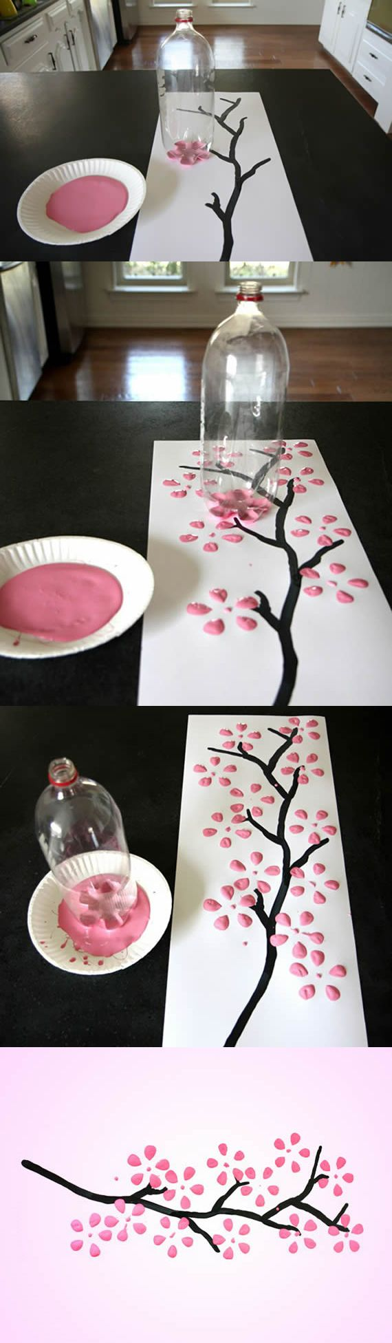 Extremely easy and pretty flower painting to make using the bottom of a bottle. Get everything you need to do this project at Walgreens.com.