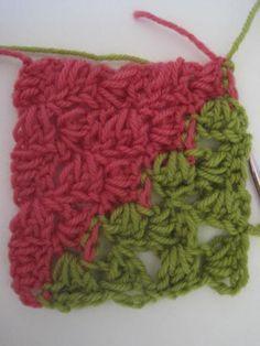How to Crochet: Corner to Corner Diagonal Box Stitch