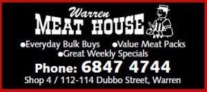 We have an extensive range of meat available at the Warren Meat House. Come in and see for yourself - we are at Shop 4, 112-114 Dubbo Street, Warren NSW 2824. Phone 6847 4744 for enquiries or special orders.