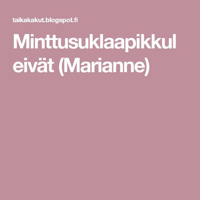 Minttusuklaapikkuleivät (Marianne)
