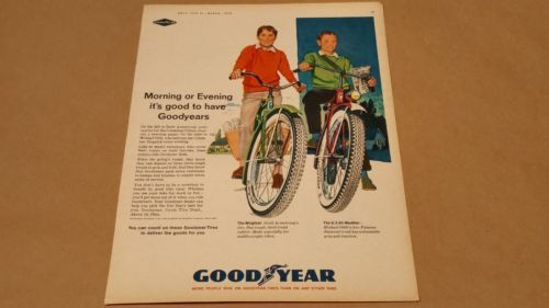 Vintage-1963-Goodyear-Bicycle-Tires-Print-Ad-March-Boys-Life-Magazine-RARE