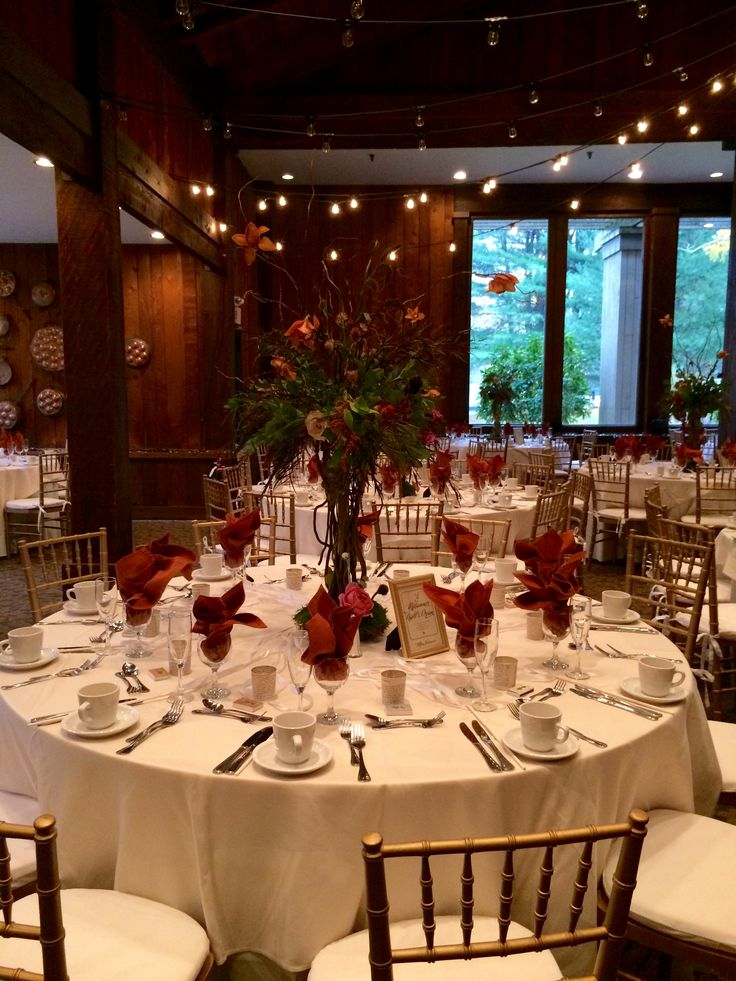 Red and white make for a perfect fall color scheme at the ...