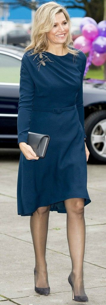 On November 27, 2015, Queen Maxima of The Netherlands attended the closing session of Power on Tour in the Fokker Terminal in The Hague, Netherlands. The Queen wore a Claes Iversen dress and Gianvito Rossi shoes.