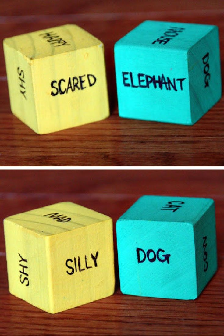 This emotional animals game helps teach kids about big emotions. They roll the dice, then act out the animal feeling that emotion. What a fun idea!