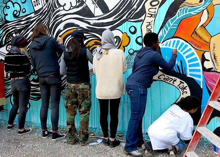 NYC, Swoon+Groundwell Youth: Hurricane Sandy mural