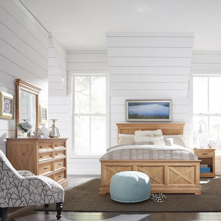 Home Styles Country Lodge 3Piece Pine Queen Bedroom Set